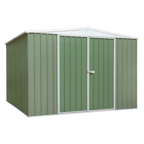 Buy Sealey GSS3030G Galvanized Steel Shed Green 3 X 3 X 2.1mtr at Toolstop