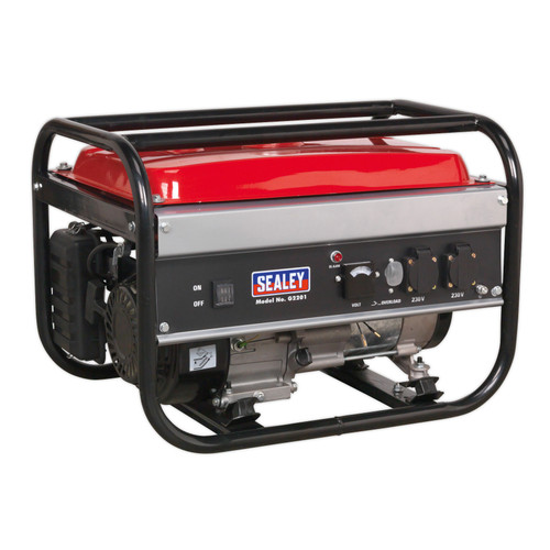 Buy Sealey G2201 Generator 2200W 240V 6.5hp at Toolstop