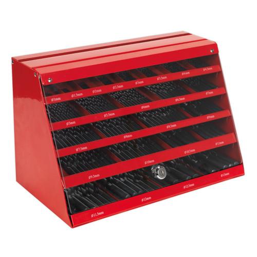 Buy Sealey DBRFSET HSS Roll Forged Drill Bit Counter Top Dispenser (250 Piece) at Toolstop