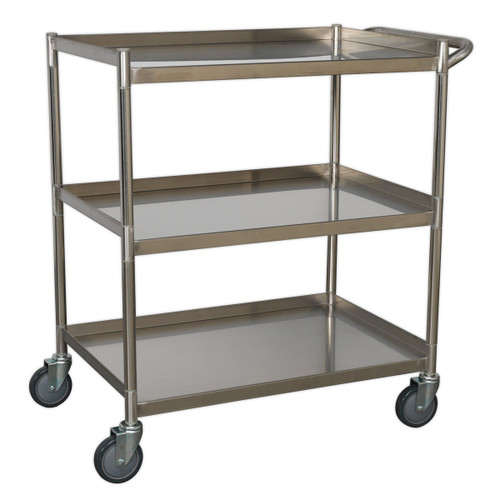 Buy Sealey CX410SS Workshop Trolley 3-level Stainless Steel at Toolstop