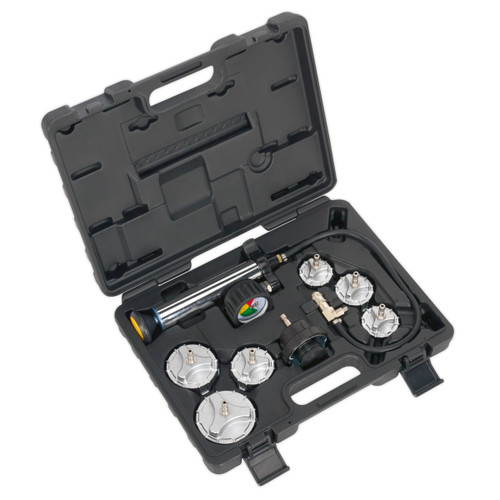 Buy Sealey CV0011 Cooling System Pressure Test Kit 7pc - Commercial at Toolstop