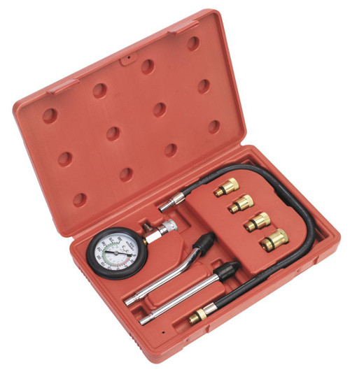 Buy Sealey CT955 Petrol Engine Compression Test Kit (8 Piece) at Toolstop
