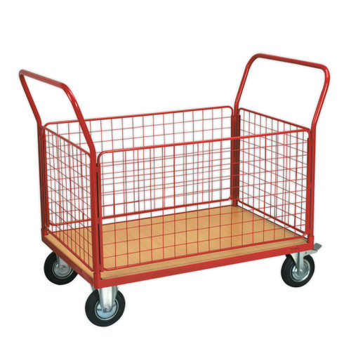 Buy Sealey CST773 Platform Truck With 4 Removable Panels 300kg 1200 X 800mm at Toolstop