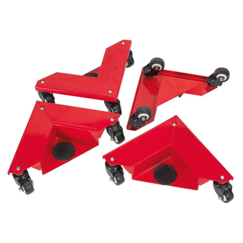 Buy Sealey CM4 Corner Transport Dollies Set Of 4 150kg Capacity at Toolstop