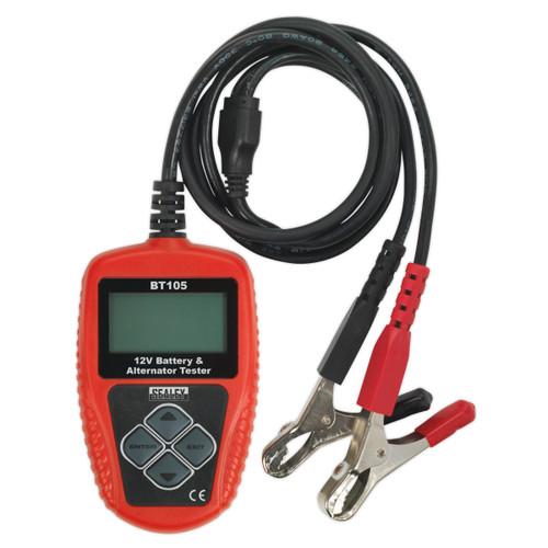 Buy Sealey BT105 Digital Battery & Alternator Tester 12v at Toolstop