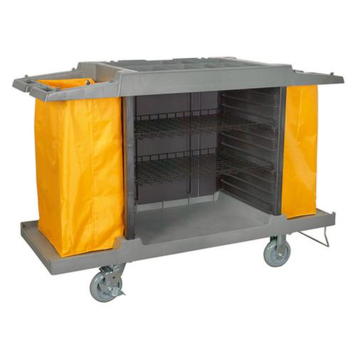 Buy Sealey BM32 Janitorial/Housekeeping Cart at Toolstop