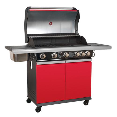 Buy Sealey BBQ11 Gas BBQ 5 Burner + Side Burner & Side Bowl at Toolstop