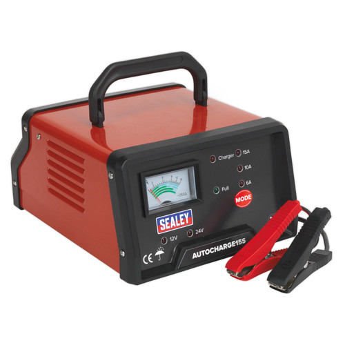 Buy Sealey AUTOCHARGE15S Auto Maintenance High Frequency Battery Charger 12/24V at Toolstop