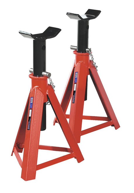 Buy Sealey AS7500 Axle Stands 7.5tonne Capacity Per Stand 15tonne Per Pair Medium Height at Toolstop