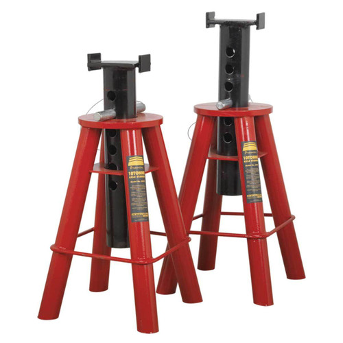 Buy Sealey AS10 Axle Stands 10tonne Capacity Per Stand 20tonne Per Pair at Toolstop