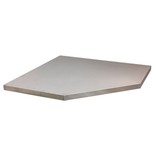 Buy Sealey APMS60SS Stainless Steel Worktop For Modular Corner Cabinet 865mm at Toolstop