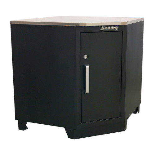 Buy Sealey APMS15 Modular Corner Floor Cabinet 930mm Heavy-Duty at Toolstop