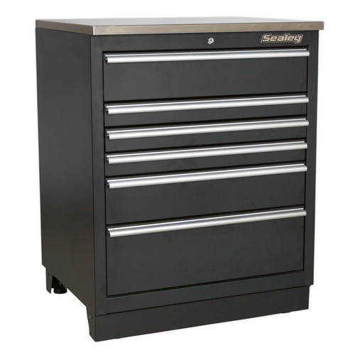 Buy Sealey APMS03 Modular Floor Cabinet 6 Drawer 775mm Heavy-Duty at Toolstop