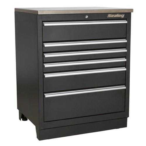 Buy Sealey APMS03 Modular Floor Cabinet 6 Drawer 775mm Heavy-Duty at Toolstop