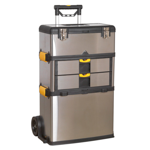 Buy Sealey AP855 Mobile Stainless Steel/composite Tool Box - 3 Compartment at Toolstop