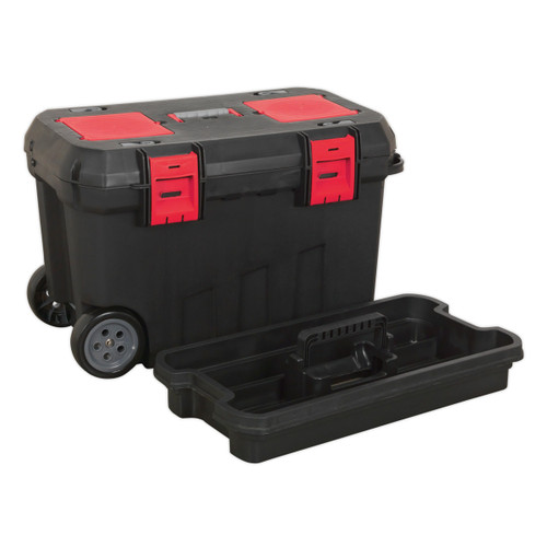 Buy Sealey AP529 Mobile Toolbox With Tote Tray & Organizers 750mm at Toolstop
