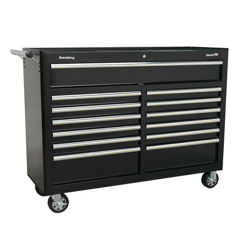 Buy Sealey AP5213TB Rollcab 13 Drawer with Ball Bearing Runners - Black at Toolstop