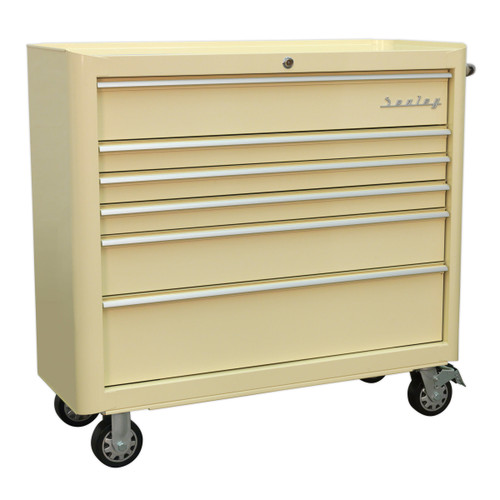 Buy Sealey AP41206 Rollcab 6 Drawer Wide Retro Style (Cream) at Toolstop