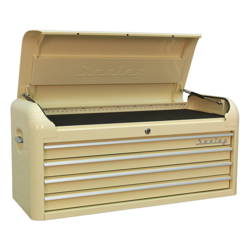 Buy Sealey AP41104 Topchest 4 Drawer Wide Retro Style (Cream) at Toolstop