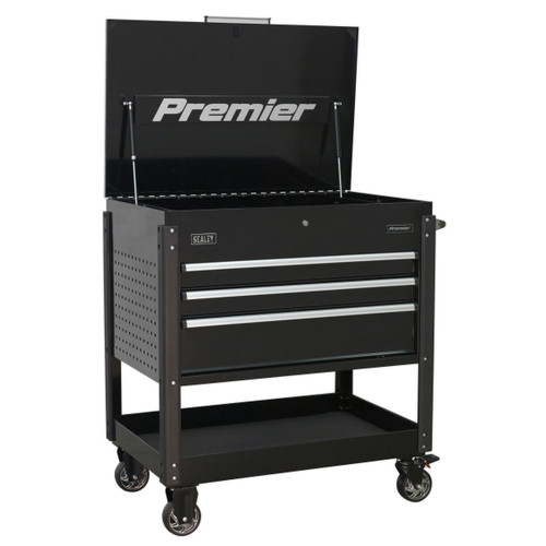 Buy Sealey AP3MB Tool Trolley 3 Drawer Heavy-Duty (Black) at Toolstop