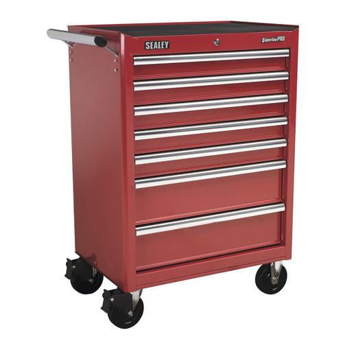 Buy Sealey AP33479 Rollcab 7 Drawer With Ball Bearing Runners - Red at Toolstop