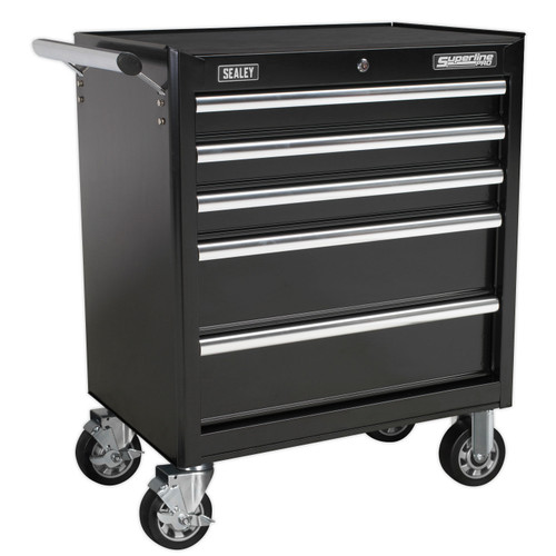 Buy Sealey AP33459B Rollcab 5 Drawer With Ball Bearing Runners - Black at Toolstop