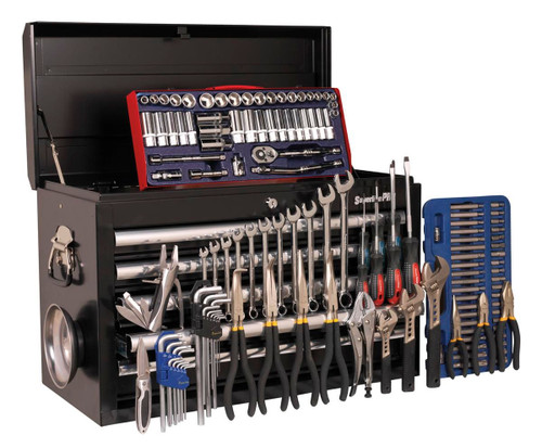 Buy Sealey AP33059BCOMBO Topchest 5 Drawer - Ball Bearing Runners - Black With 138pc Tool Kit at Toolstop