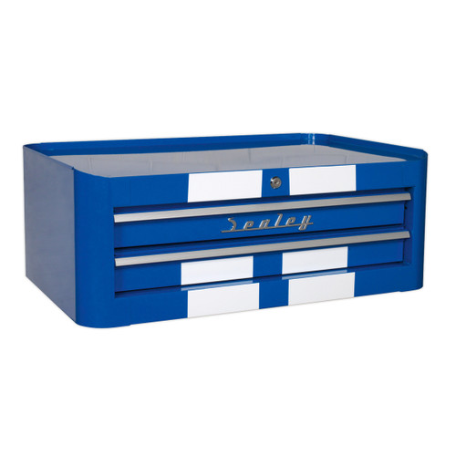 Buy Sealey AP28102BWS Mid-box 2 Drawer Retro Style - Blue With White Stripes at Toolstop