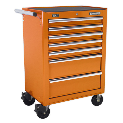 Buy Sealey AP26479TO Rollcab 7 Drawer With Ball Bearing Runners - Orange at Toolstop