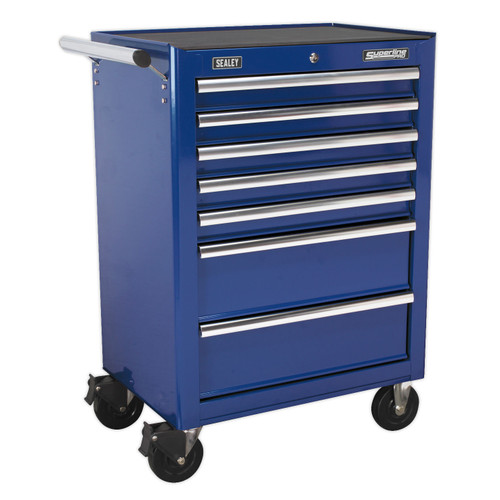 Buy Sealey AP26479TC Rollcab 7 Drawer With Ball Bearing Runners - Blue at Toolstop