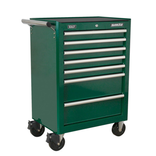 Buy Sealey AP26479TBRG Rollcab 7 Drawer With Ball Bearing Runners - Green at Toolstop