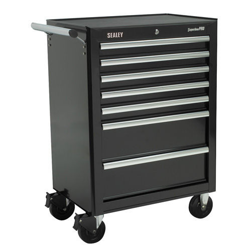 Buy Sealey AP26479TB Rollcab 7 Drawer With Ball Bearing Runners - Black at Toolstop