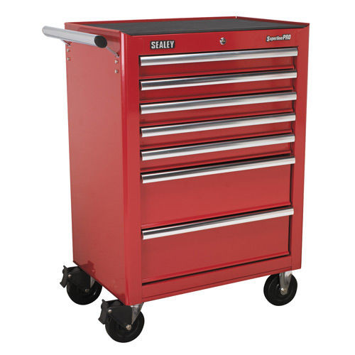 Buy Sealey AP26479T Rollcab 7 Drawer With Ball Bearing Runners - Red at Toolstop