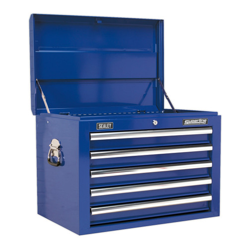 Buy Sealey AP26059TC Topchest 5 Drawer With Ball Bearing Runners - Blue at Toolstop