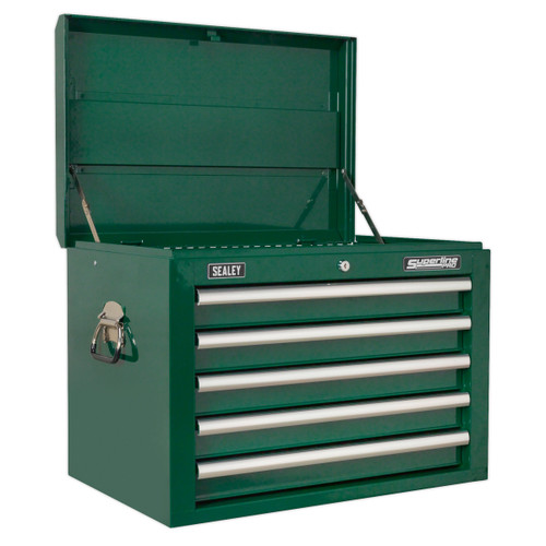 Buy Sealey AP26059TBRG Topchest 5 Drawer With Ball Bearing Runners - Green at Toolstop