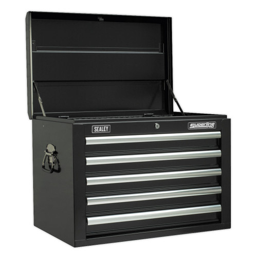 Buy Sealey AP26059TB Topchest 5 Drawer With Ball Bearing Runners - Black at Toolstop