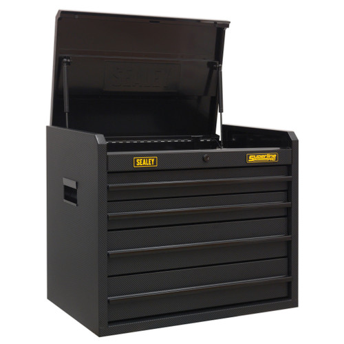 Buy Sealey AP2604CF Topchest 4 Drawer With Ball Bearing Slides - Carbon Fibre Effect Limited Edition at Toolstop