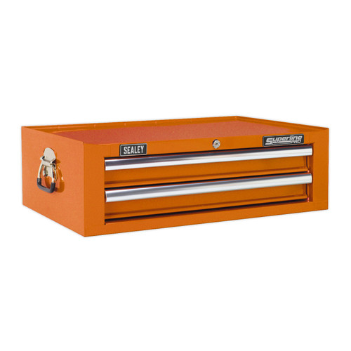 Buy Sealey AP26029TO Mid-box 2 Drawer With Ball Bearing Runners - Orange at Toolstop