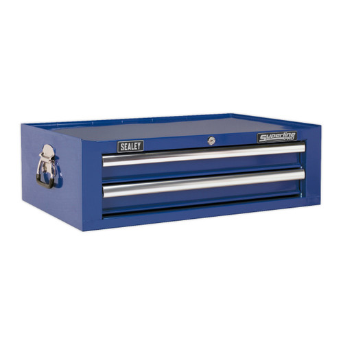 Buy Sealey AP26029TC Mid-box 2 Drawer With Ball Bearing Runners - Blue at Toolstop