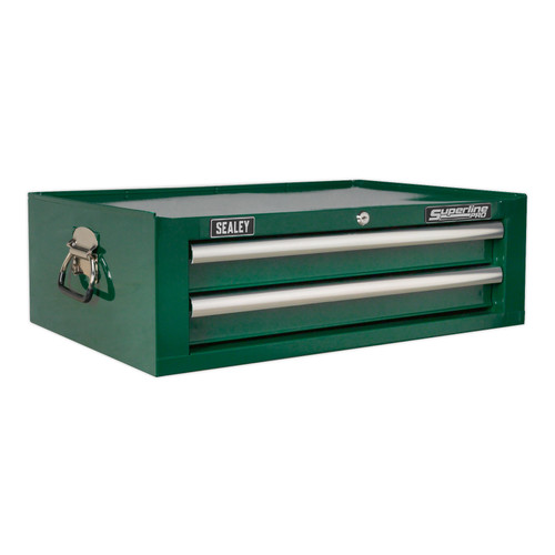 Buy Sealey AP26029TBRG Mid-box 2 Drawer With Ball Bearing Runners - Green at Toolstop