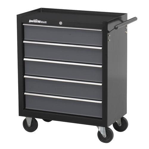 Buy Sealey AP2505B Rollcab 5 Drawer With Ball Bearing Runners - Black/grey at Toolstop