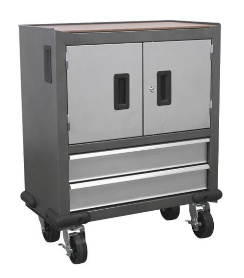 Buy Sealey AP22DFC Mobile Cabinet 2 Drawer & 2 Door Cupboard at Toolstop