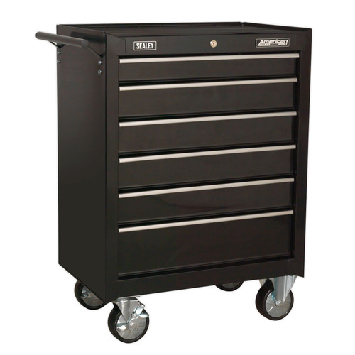 Buy Sealey AP226B Rollcab 6 Drawer With Ball Bearing Slides - Black at Toolstop