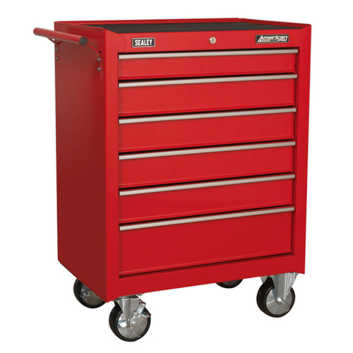 Buy Sealey AP226 Rollcab 6 Drawer With Ball Bearing Slides - Red at Toolstop