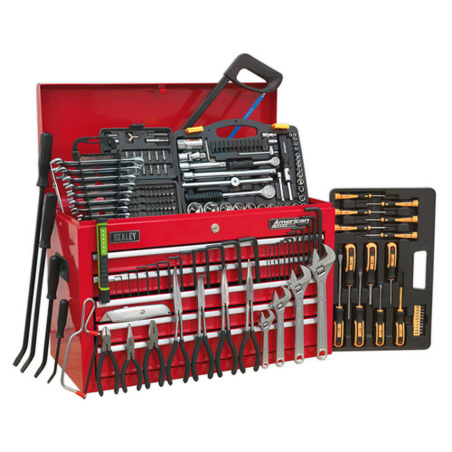 Buy Sealey AP225COMBO Topchest 5 Drawer With Ball Bearing Slides (230 Piece) at Toolstop