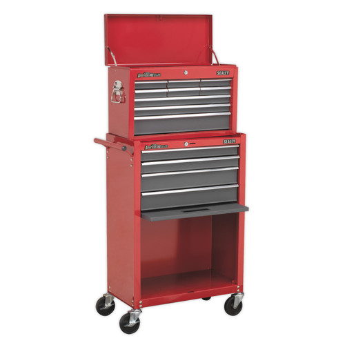 Buy Sealey AP22513BB Topchest & Rollcab Combination 13 Drawer With Ball Bearing Runners - Red/grey at Toolstop