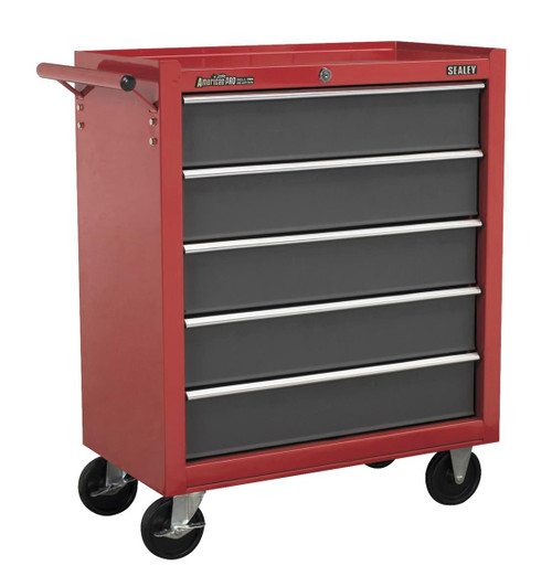 Buy Sealey AP22505BB Rollcab 5 Drawer With Ball Bearing Runners - Red/grey at Toolstop