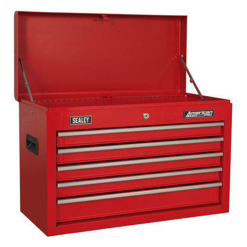Buy Sealey AP225 Topchest 5 Drawer With Ball Bearing Slides - Red at Toolstop