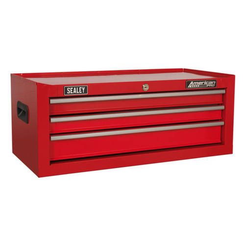 Buy Sealey AP223 Mid-Box 3 Drawer With Ball Bearing Slides - Red at Toolstop
