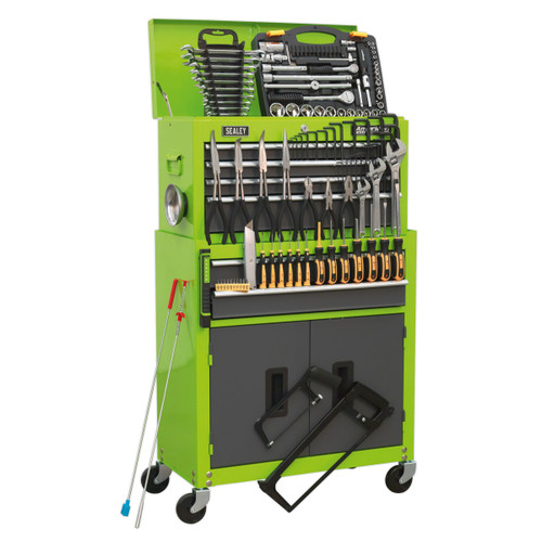 Buy Sealey AP2200COMBOHV Topchest & Rollcab + BB Slides Green/Grey 128 Piece at Toolstop